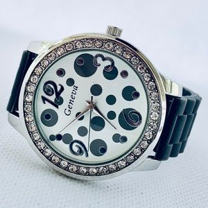 Geneva Polka Dot Women's Watch